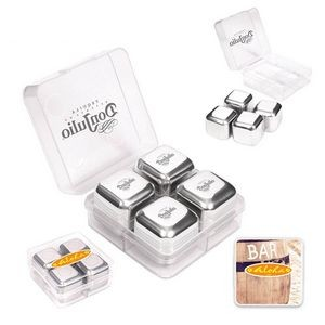 Stainless Steel Ice Cubes (Set Of 4)